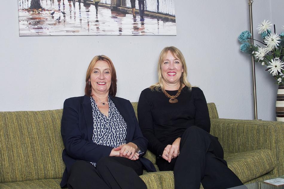 Deborah Kellaway and Janet King